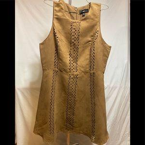 Velvet Tan Dress